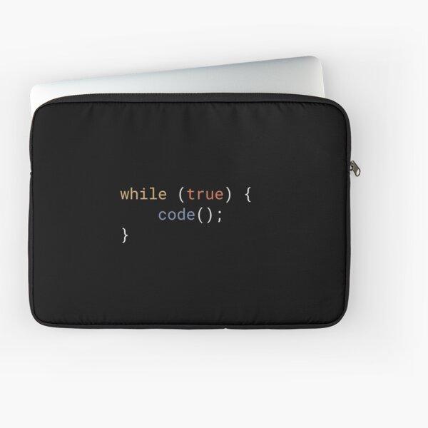 JavaScript - While True Code Laptop Sleeve