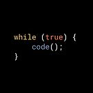 JavaScript - While True Code by developer-gifts
