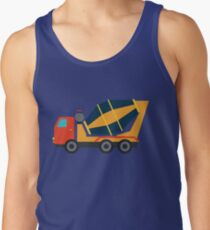 Yellow Cement Truck Tank Top