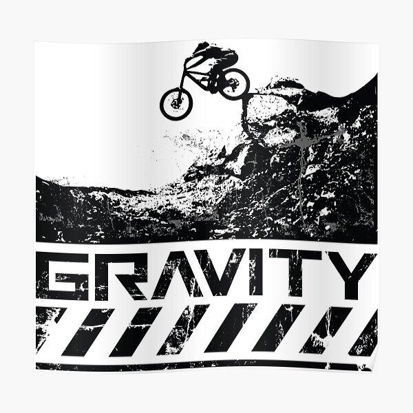VTT de descente. Gravity MTB Poster