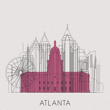Atlanta Landmarks Poster by geekmywall