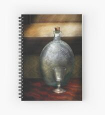 Bar - The Flask and the Glass Spiral Notebook