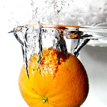 splashing orange by stoekenbroek