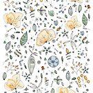 Flower Garden Watercolor by Tuky Waingan