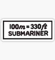 Jame Bond Submariner 5508 Sticker