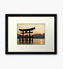 Miyajima Sunset - Itsukushima Shrine Framed Print