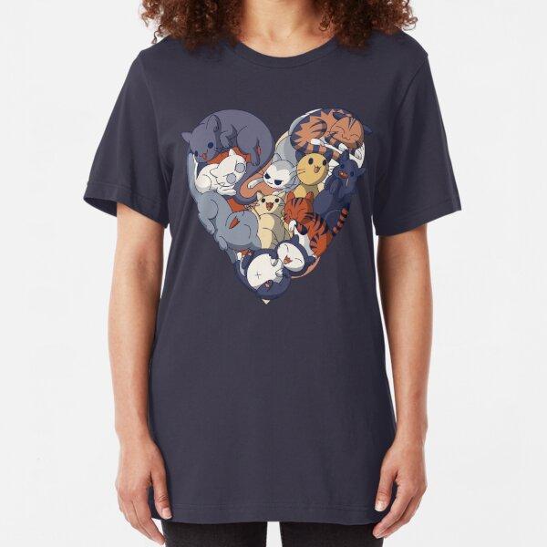 Cat Heart Slim Fit T-Shirt