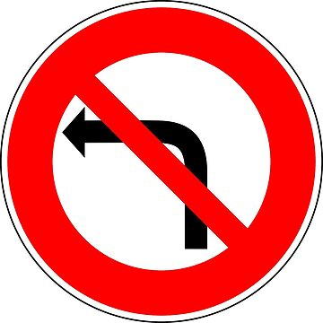 No Left Turn Sign by aeilos