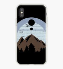 Panorama in the mountains   Nature hiking view iPhone Case