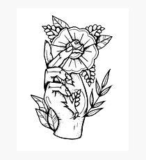 Hand Rose Photographic Print