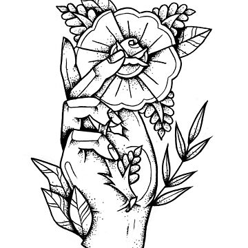 Hand Rose by ivyklomp