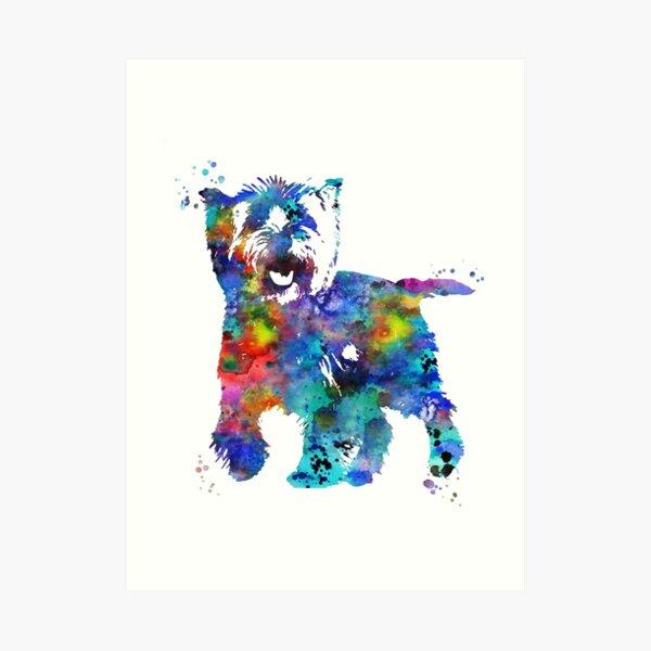 Cairn Terrier, watercolor Cairn Terrier Art Print