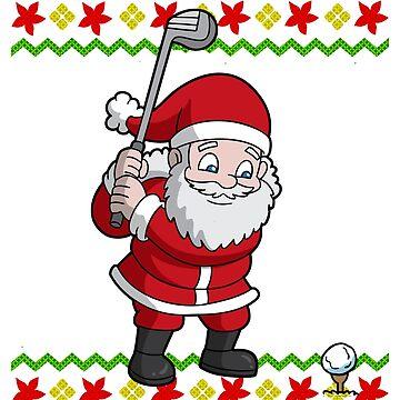Santa Golfing Ugly Christmas by frittata