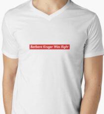 Patriot Act Hasan Minhaj Barbara Kruger hatte recht T-Shirt mit V-Ausschnitt