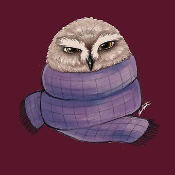 Winter Owl by woaarts