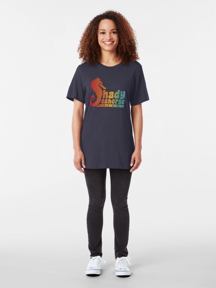 Alternate view of Shady Seahorse Lagoon Slim Fit T-Shirt