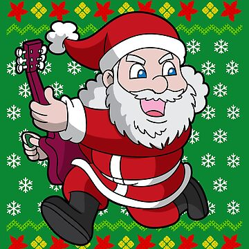 Santa Guitar Player Ugly Christmas by frittata