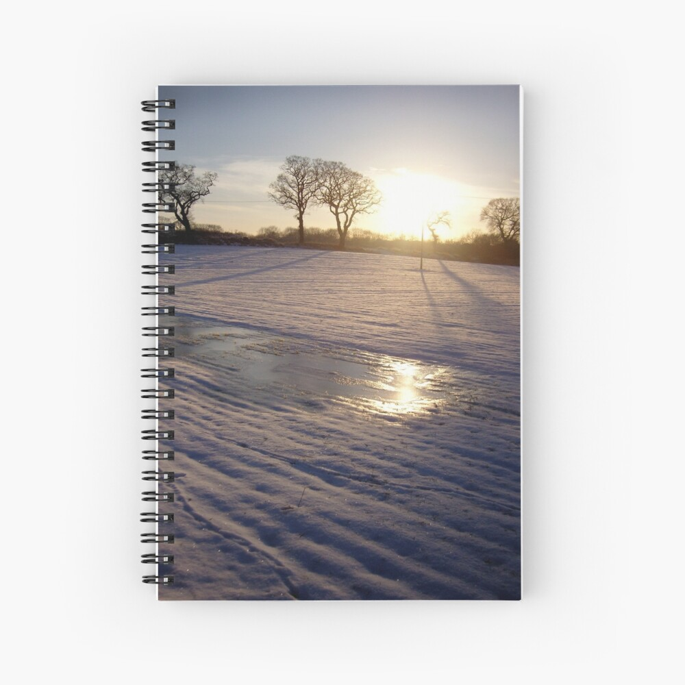 Dalmeny Winter Sun Spiral Notebook