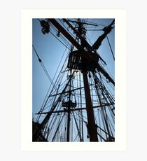 Rigging Of A Wooden Ship Art Print