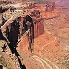 Shafer Canyon Trail Road View II - Canyonlands National Park, Grand County, UT by Rebel Kreklow