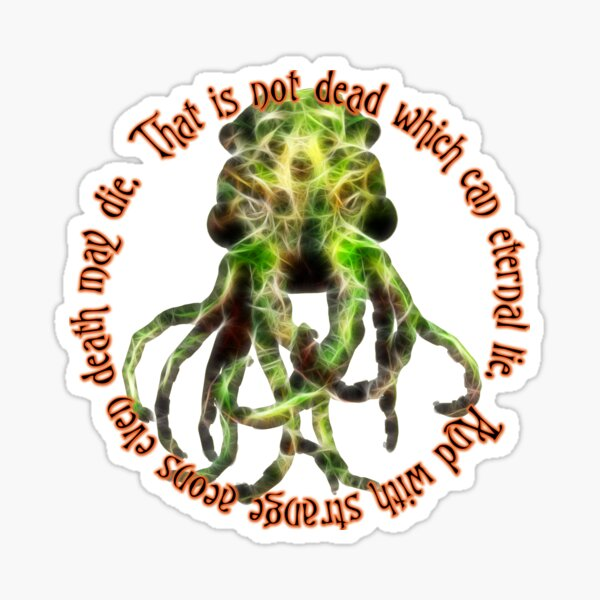 Cthulhu - That is not dead Sticker