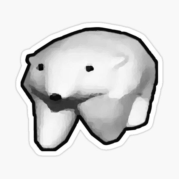 running polar bear gif meme Sticker