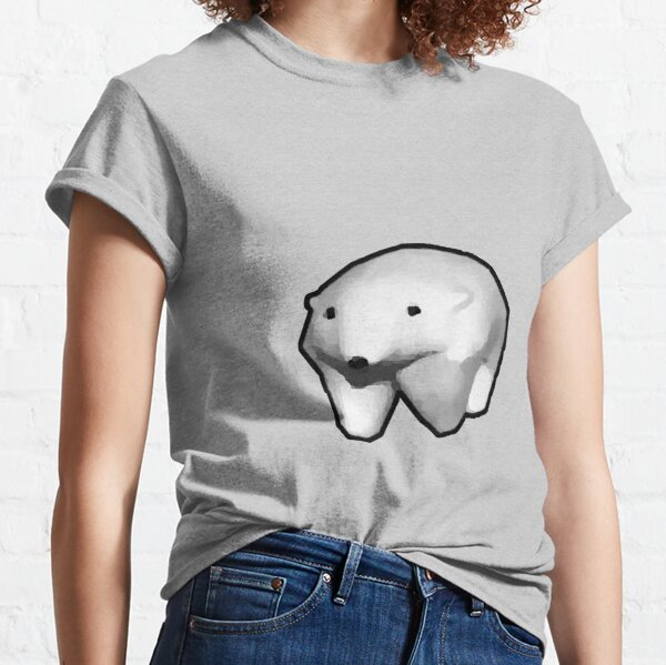 running polar bear gif meme Classic T-Shirt
