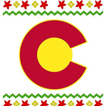 Colorado Christmas Flag Ugly Christmas by frittata