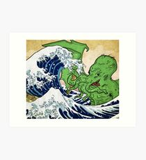 The Great Wave off Octopus Art Print