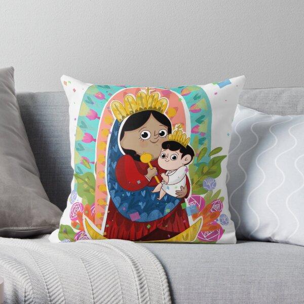 Virgen de la Chinita - LauIlustra Throw Pillow