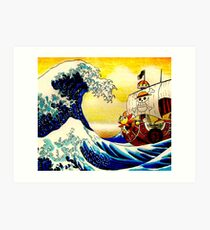 The Great Wave off One Piece Art Print