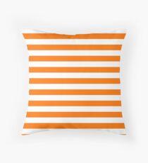Turmeric Orange Beach Hut Horizontal Stripe Fall Fashion Throw Pillow