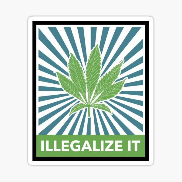 Vintage 1990s Stock Cannabis Vintage THC Big Boy Sticker Weed