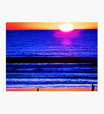 Psychedelic Beach Sunset Photographic Print