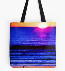 Psychedelic Beach Sunset Tote Bag