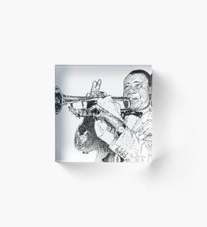 Jazz musician Louis Armstrong Acrylic Block