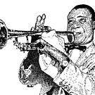 Jazz musician Louis Armstrong by tqueen