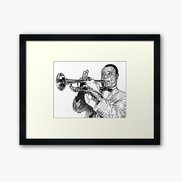 Jazz musician Louis Armstrong Framed Art Print