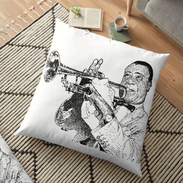 Jazz musician Louis Armstrong Floor Pillow