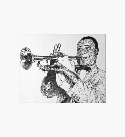 Jazz musician Louis Armstrong Art Board Print