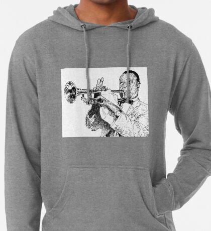 Jazz musician Louis Armstrong Lightweight Hoodie