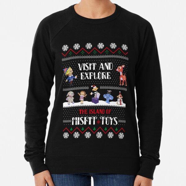 The Island of Misfit Toys Rudolph Christmas Sweater Lightweight Sweatshirt