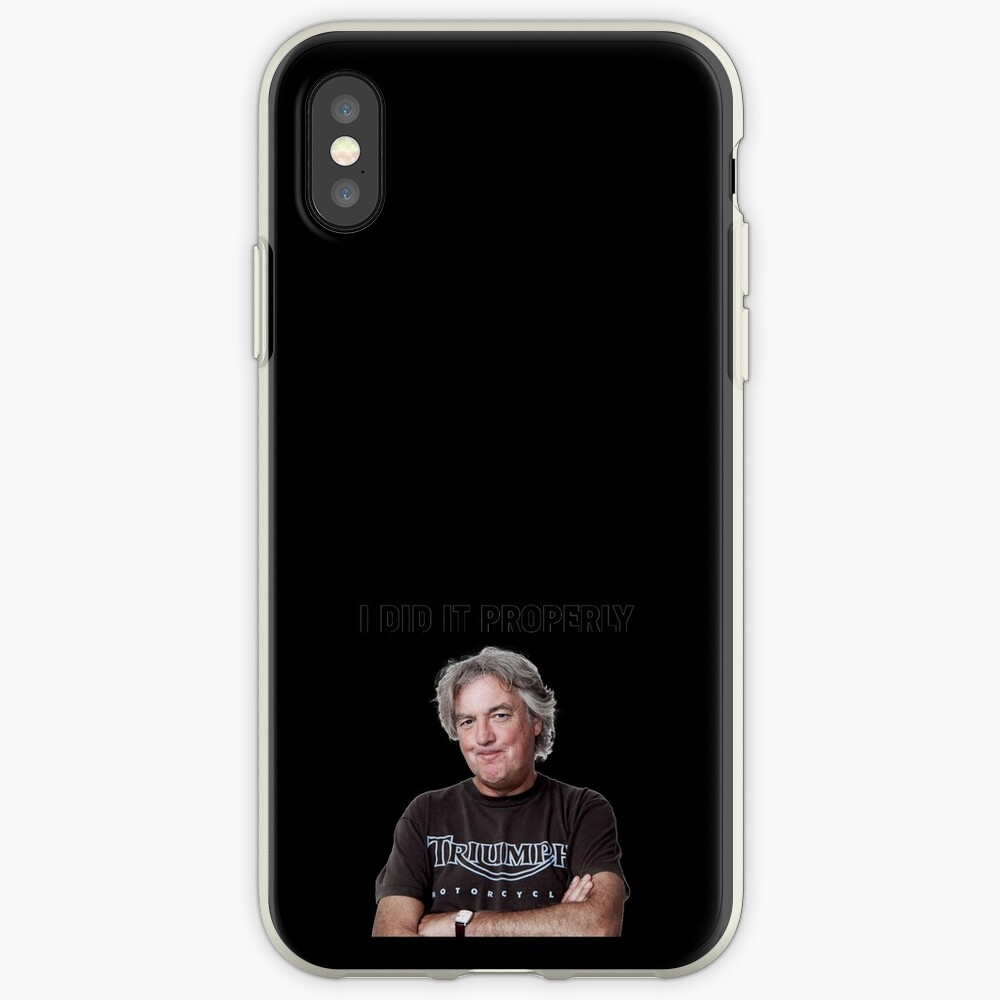 "James May ""I did it properly"" iPhone Case & Cover"