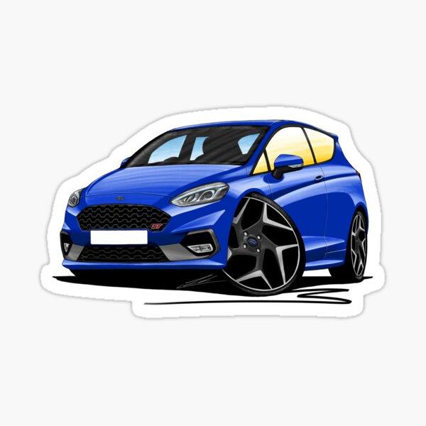 Ford Fiesta ST (Mk8) - Caricature Car Art Sticker