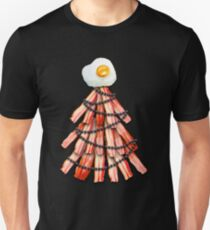 Bacon Tree With An Egg On Top Funny Christmas Gift Unisex T-Shirt