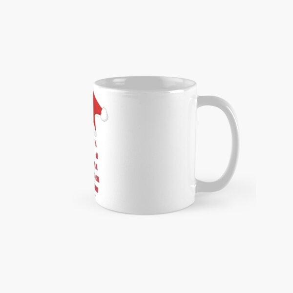 American eagle covered with American flag wearing Christmas Santa hat Classic Mug