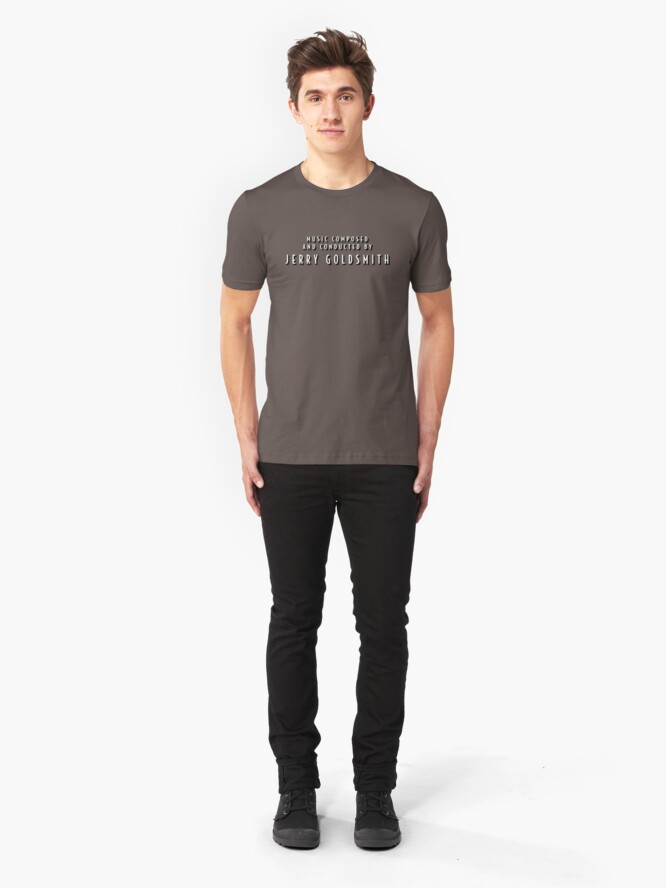 Alternate view of The Shadow | Music Composed and Conducted by Jerry Goldsmith Slim Fit T-Shirt