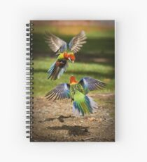 Colourful Argument - Sandy Bay, Tasmania Spiral Notebook