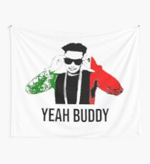 Dj Pauly D Yeah Buddy Italian Flag Wall Tapestry