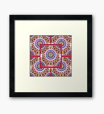 Style Old Colored Lace Fall Into Winter Design at Green Bee Mee Framed Print